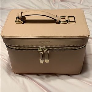 Henri Bendel Train Case in Blush Pink Leather